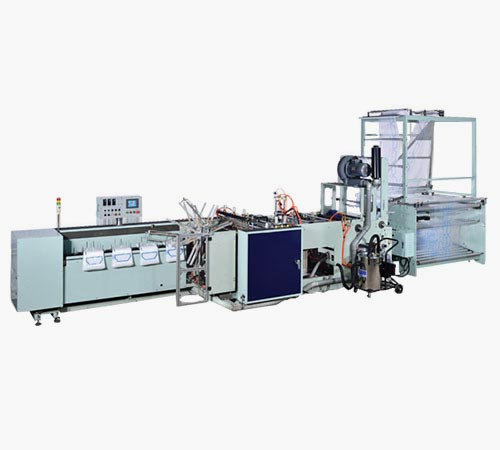High speed side sealing machine with wicketer