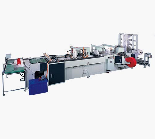 Fully automatic loop handle, die cut handle, draw tape & patch handle bags making machine
